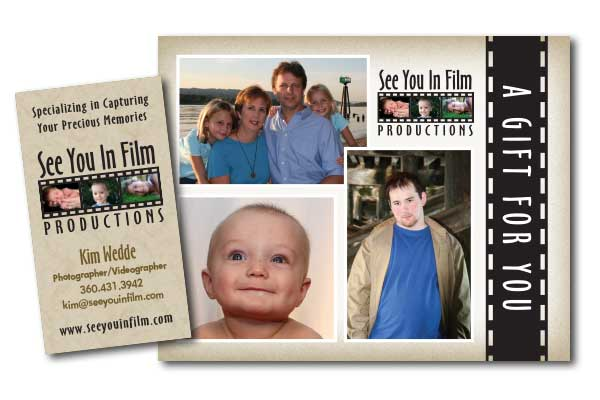 See You In FIlm Productions Business Card and Postcard